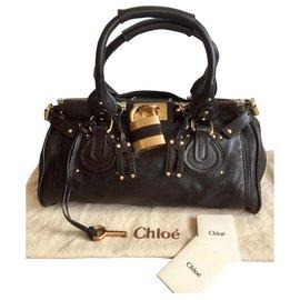Chloé-Superb bag Chloé Paddington condition NINE-Dark brown