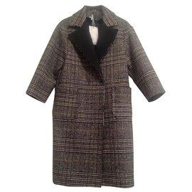 Impérial-Coats, Outerwear-Black,Dark grey