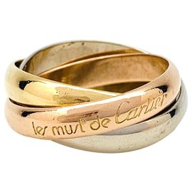"""Cartier-Cartier ring, """"Trinity"""", three golds.-Other"""