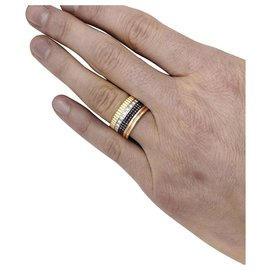 """Boucheron-Boucheron ring """"Four Classic"""" model,yellow gold, rose, white and brown PVD.-Other"""