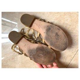 Chanel-Chanel chain sandals EU36. 5-Beige