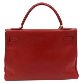 Hermès-Hermes vintage bag, kelly model 32, 1989-Red