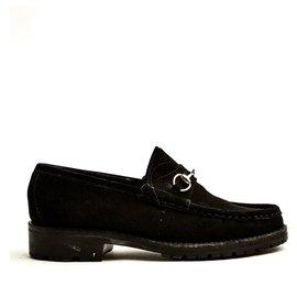Gucci-1953 black SUEDE EU37-Black