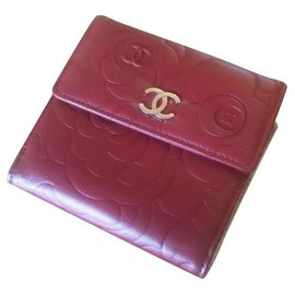 Chanel-Purses, wallets, cases-Dark red