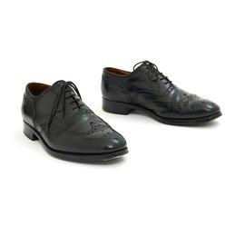 JM Weston-DERBY PERFORATED BLACK UK7.5E FR41-Black