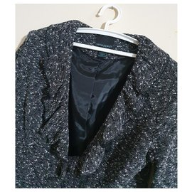 Cynthia Rowley-Jackets-Black,White,Grey