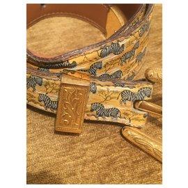 Hermès-zebras-Blue,Yellow