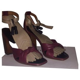 Céline-Sandals-Dark red