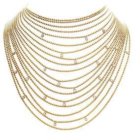 """Cartier-Collier Cartier """"Draperie"""" en or jaune, or blanc et diamants.-Autre"""