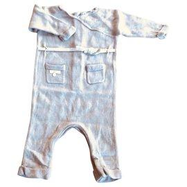 Baby Dior-Cashmere knit pajamas-Taupe