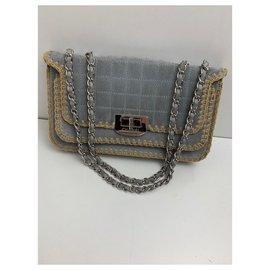Chanel-Chanel 2.55-Blue,Grey