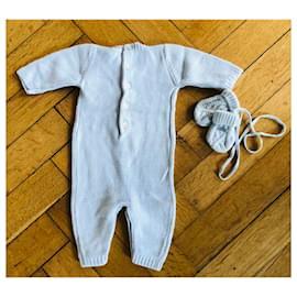 Baby Dior-Combinaison Baby Dior-Bleu clair