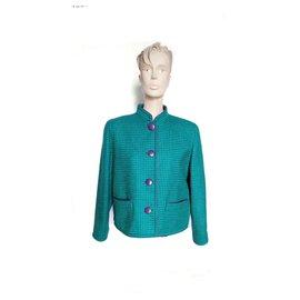 Balmain-Balmain - veste courte vintage / T. 40 Made FR-Vert foncé