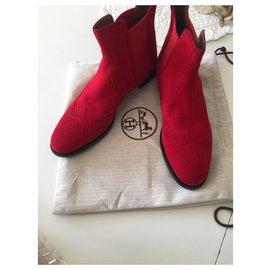 Hermès-Boots Hermes Brighton-Rouge