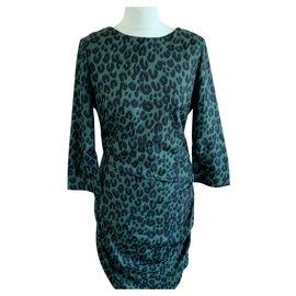 Louis Vuitton-Robe en soie-Vert