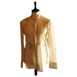 Kenzo-chemise à col cassé KENZO taille 40 parfait état-Blanc cassé