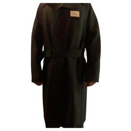 Lanvin-Men Coats Outerwear-Black