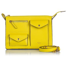 Mulberry-Mulberry Yellow Leather Cherwell Satchel-Yellow