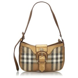 Burberry-Burberry Brown House Check Shoulder Bag-Brown,Multiple colors