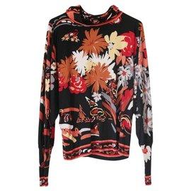 Leonard-Léonard sweater / silk jersey - Size 36/38-Black