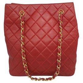 Chanel-Sac de courses-Rouge