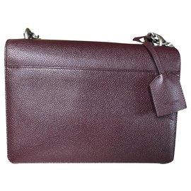 Saint Laurent-Sunset medium smooth leather-Dark red