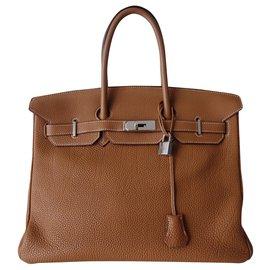 Hermès-HERMES BIRKIN BAG 35 gold-Beige
