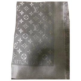Louis Vuitton-CHALE MONogram LOUIS VUITTON-Gris anthracite