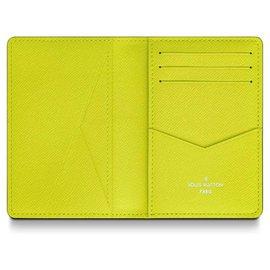 Louis Vuitton-LV pocket organiser taiga rama-Yellow