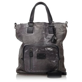 Chloé-Chloe Gray Leather Satchel-Black,Other,Grey