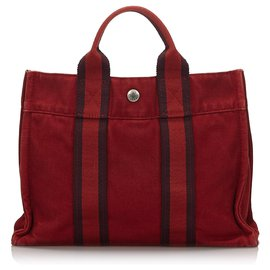 Hermès-Hermes Red Fourre Tout PM-Red