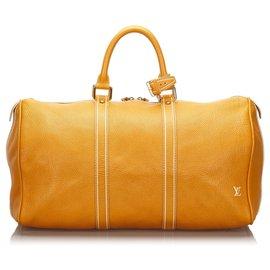 Louis Vuitton-Louis Vuitton Orange Tobago Keepall 50 d'orange-Orange