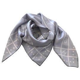 Chanel-Chanel scarf-Grey