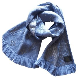 Louis Vuitton-Scarpa Monogram Shine-Light blue