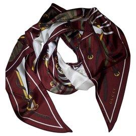 Gucci-Foulard en soie-Multicolore
