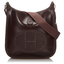 Hermès-Hermes Brown Amazonia Evelyne I GM-Brown,Dark brown