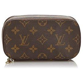 Louis Vuitton-Louis Vuitton Brown Monogram Trousse Blush PM-Brown