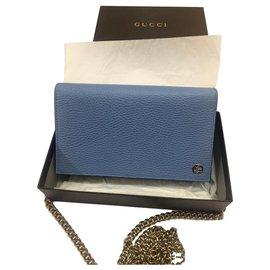 Gucci-Chaîne de portefeuille-Bleu
