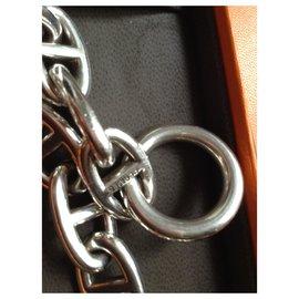 Hermès-Chaine d'ancre-Argenté