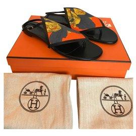 Hermès-Tongs Hermès Origami-Noir