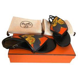 Hermès-Flip flops Hermès Origami-Black
