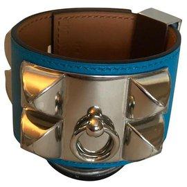 Hermès-Bracelet Hermès Collier de Chien-Bleu