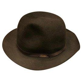 Borsalino-BORSALINO CLASSIC WOOL LIGHT HAT-Black