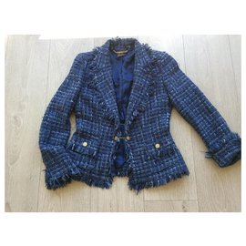 Luisa Spagnoli-Blue woolen jacket-Blue
