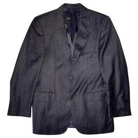 Ermenegildo Zegna-Ermenegildo Zegna Tessuto Grey Suit Jacket, Size 48-Grey