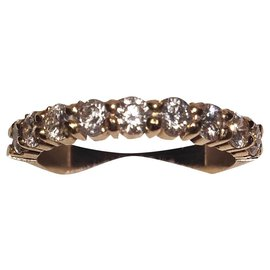 Autre Marque-bague or 18 karat & diamants-Doré