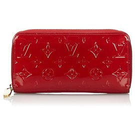 Louis Vuitton-Louis Vuitton Red Vernis Zippy Wallet-Red
