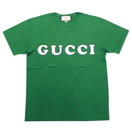Gucci-GUCCI  PRINT OVERSIZE T-SHIRT XL GREEN BRAND NEW-Green