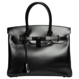 "Hermès-Rarissime Hermès Birkin 30 ""SO BLACK"" en excellent état et full set-Noir"