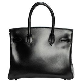 """Hermès-Raros Hermes Birkin 30 """"TÃO PRETO"""" em excelente estado e conjunto completo-Preto"""